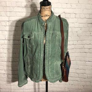 Chico's corduroy hippie/boho style jacket size L